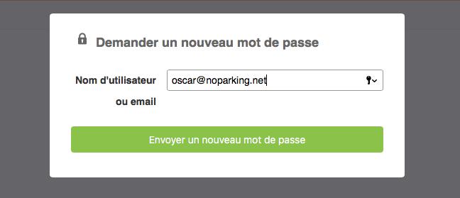 Demander un nouveau mot de passe via le portail Opentime