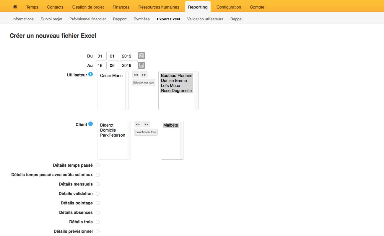 Créer un nouveau fichier Excel