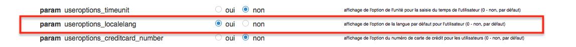 Activer le paramètre useroptions_localelang